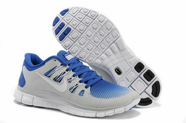 Cheap Nike Frees 5.0 v2 Blue Grey Black White On VaporMaxRunning