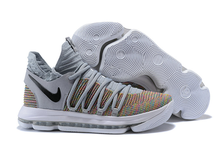 Cheap Nike KD 10 Nike Kevin Durant 10 Multi-Color Flyknit On VaporMaxRunning