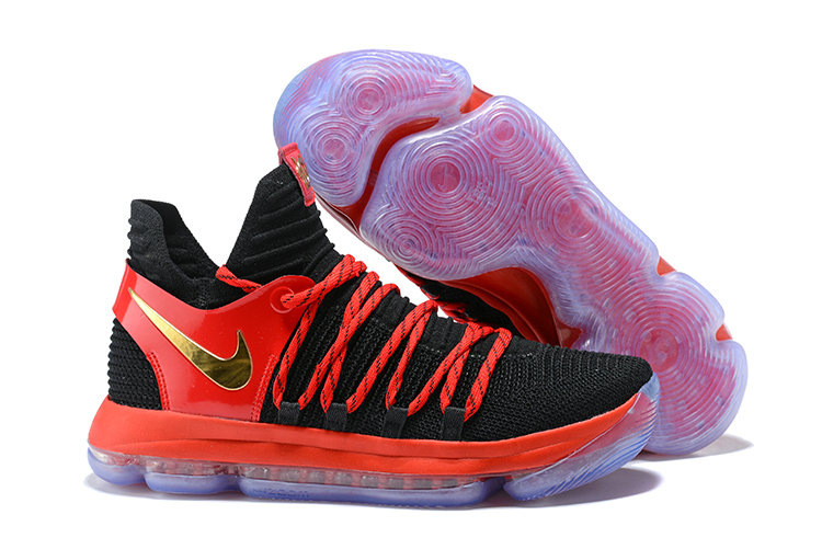 Cheap Nike KD 10 Nike Kevin Durant 10 Nike Drops A Exclusive KD 10 In Red  Black And Gold On VaporMaxRunning