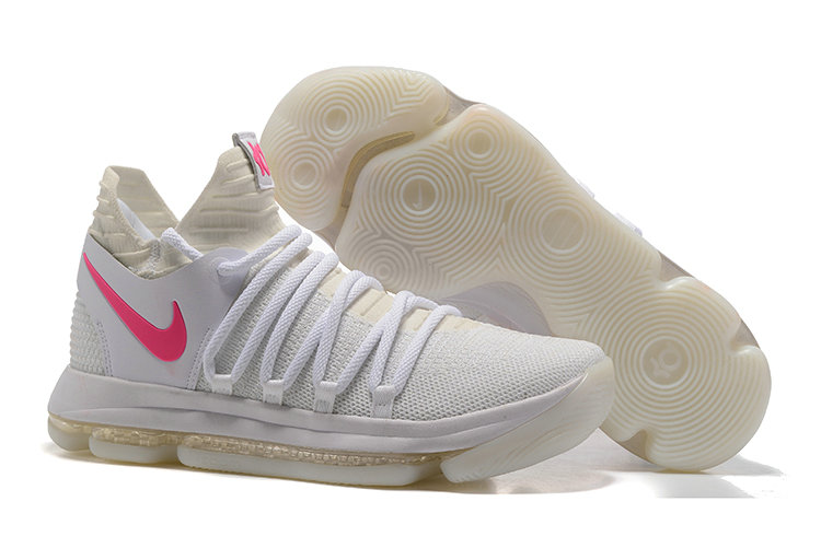 Cheap Nike KD 10 Nike Kevin Durant 10 White Pink Glow in the Dark On VaporMaxRunning
