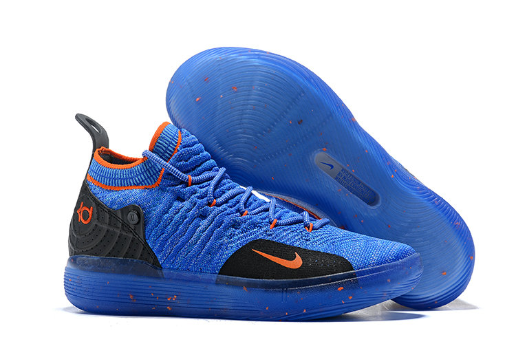 Cheap Nike KD 11 Basketball Shoes Royal Blue Orange Black