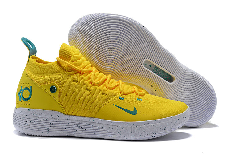 Cheap Nike KD 11 Basketball Shoes Yellow Green White