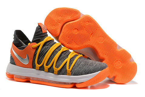 Cheap Nike Kevin Durant X PS Elite Grey Yellow Orange White On VaporMaxRunning