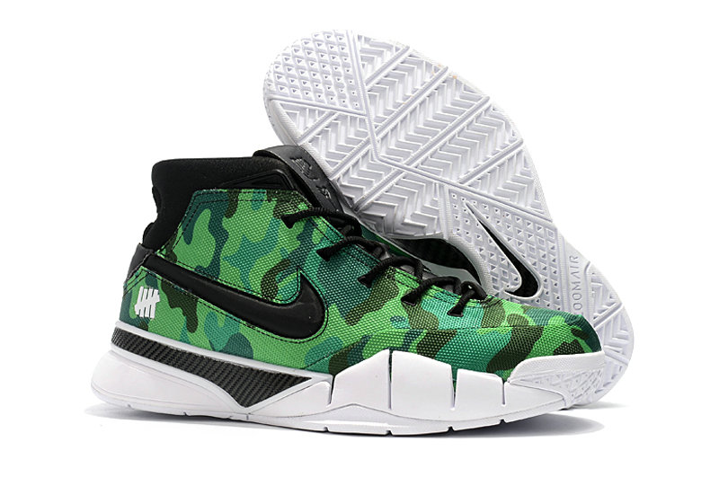 Cheap Nike Kobe 1 Protro Basketball Shoes Green Black White