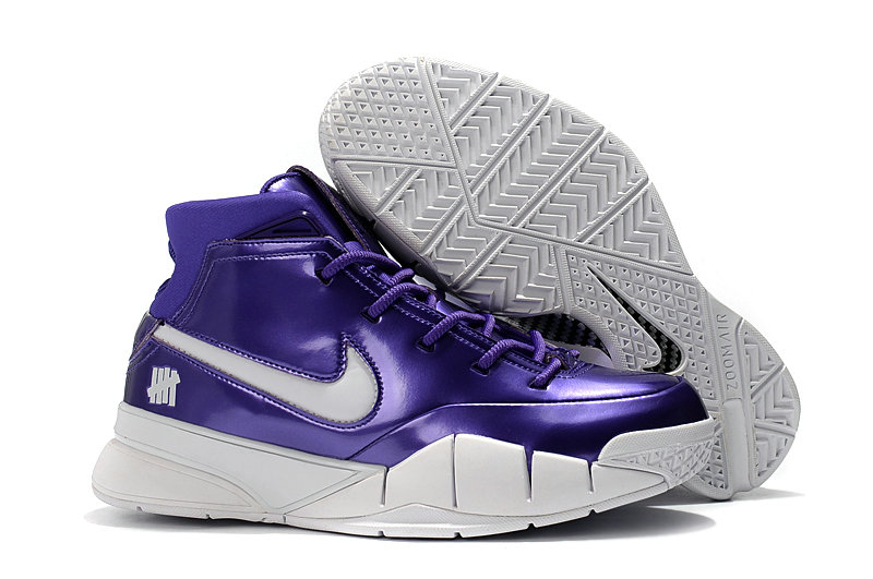 Cheap Nike Kobe 1 Protro Basketball Shoes White Purple