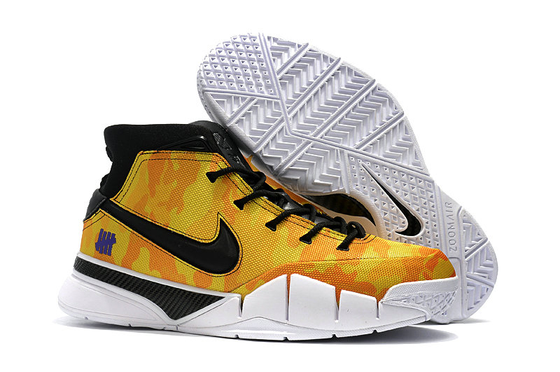 Cheap Nike Kobe 1 Protro Basketball Shoes Yellow Black White