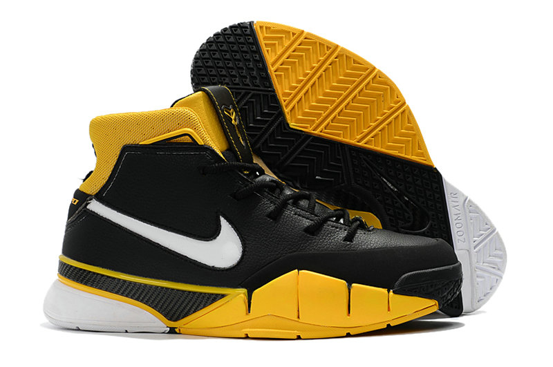 Cheap Nike Kobe 1 Protro Yellow Black White On VaporMaxRunning