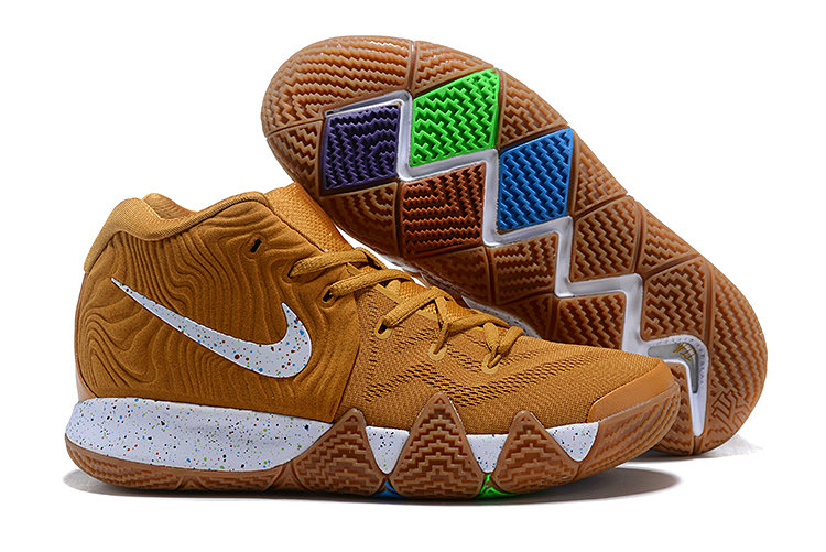 Cheap Nike Kyrie 4 Cinnamon Toast Crunch Metallic Gold Coin White For Sale On VaporMaxRunning