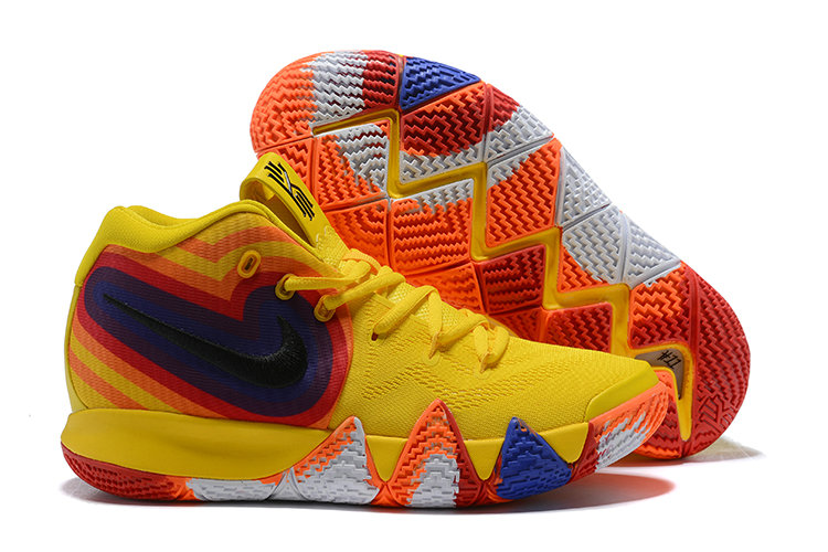 Cheap Nike Kyrie 4 Irving Basketball Shoes Yellow White Black Orange Red Blue