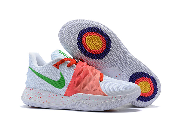 Cheap Nike Kyrie 4 Low EP White Red Green On VaporMaxRunning