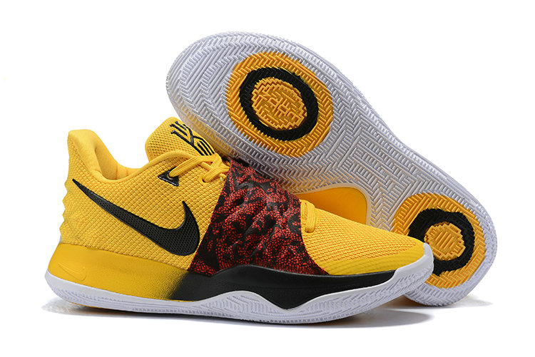 Cheap Nike Kyrie 4 Low Yellow Black Red PE On VaporMaxRunning