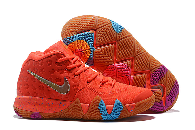 Cheap Nike Kyrie 4 Lucky Charms Bright Crimson Multi-Color BV0428-600 On VaporMaxRunning
