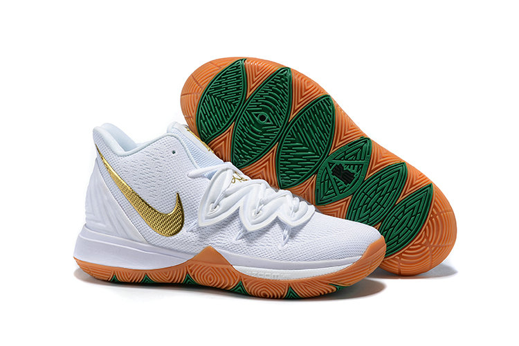 Cheap Nike Kyrie 5 Gets A Lucky Irish Colorway White Metallic Gold-Pure Platinum AQ2456-170 On VaporMaxRunning