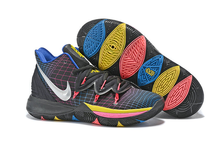 Cheap Nike Kyrie 5 Irvings VI All Stire Silver Black Pink Yellow On VaporMaxRunning