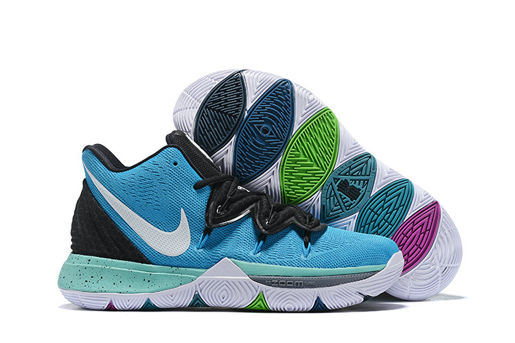 Cheap Nike Kyrie 5 Irvings VI Blue White Black Aqua White On VaporMaxRunning
