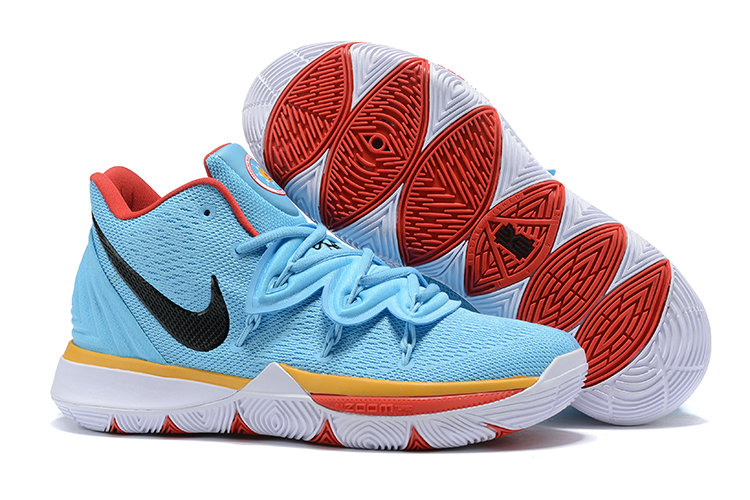 Cheap Nike Kyrie 5 Irvings VI Sky Blue Black Gold Red White On VaporMaxRunning