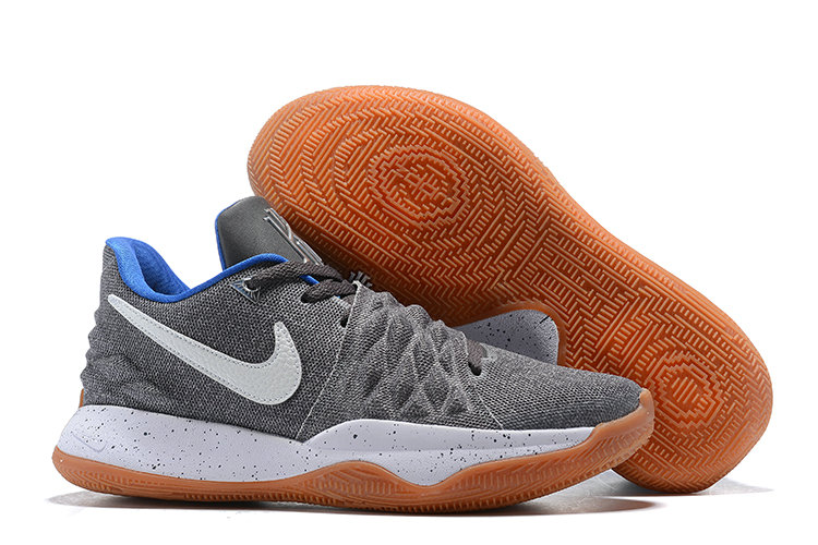 Cheap Nike Kyrie Flytrap Irvings Basketball Shoes Wolf Grey White Blue