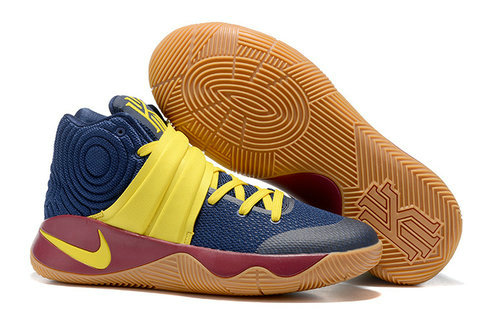 Cheap Nike Kyrie Irving 2 (II) Yellow Navy Blue Brown On VaporMaxRunning