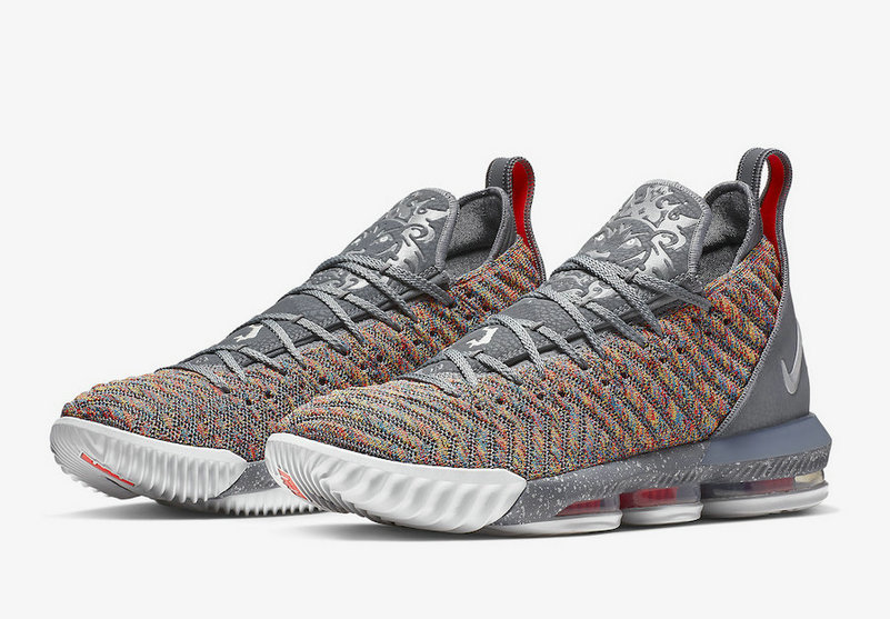 Cheap Nike LeBron 16 Multicolor BQ5969-900 Multi-Color Metallic Silver-Cool Grey On VaporMaxRunning