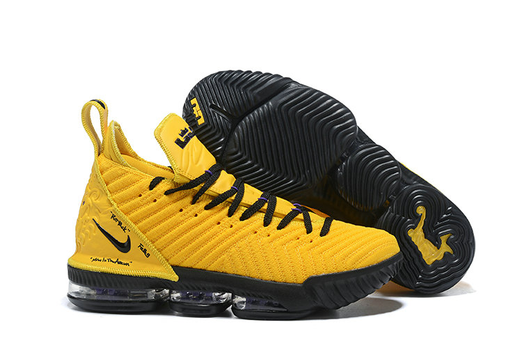 Cheap Nike LeBron 16 PE  LBJ Yellow Black Triple-Double On VaporMaxRunning