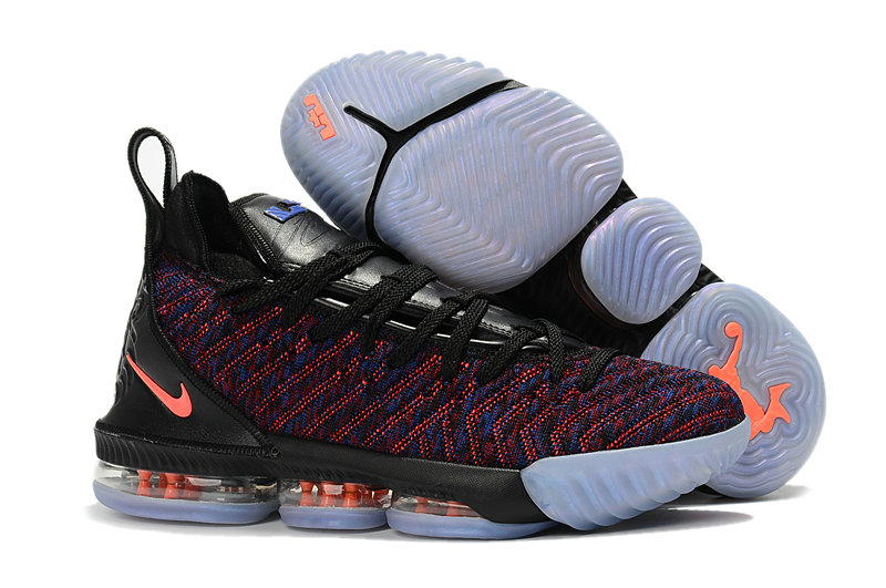 Cheap Nike Lebron 16 Black Orange Blue Red On VaporMaxRunning