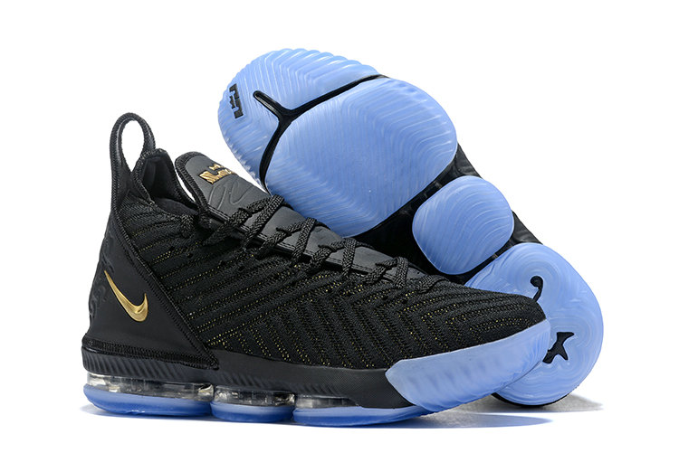 Cheap Nike Lebron 16 Gold Black Blue On VaporMaxRunning