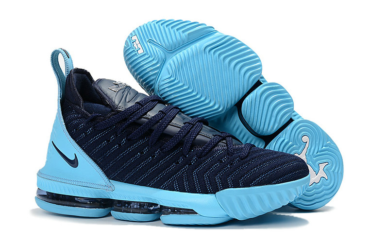 Cheap Nike Lebron 16 Navy Blue Jade On VaporMaxRunning