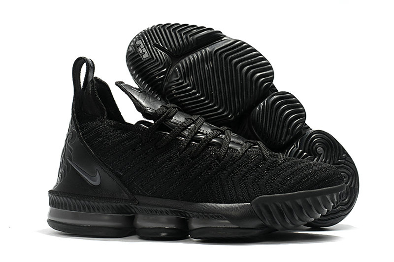 Cheap Nike Lebron 16 Triple Black On VaporMaxRunning