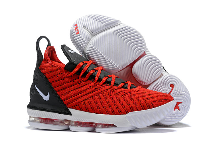 Cheap Nike Lebron 16 University Red Black White On VaporMaxRunning
