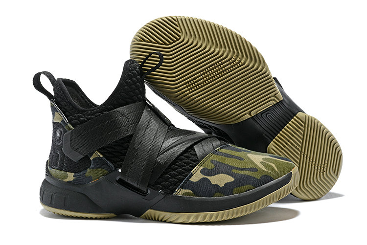 Cheap Nike Lebron Soldier 12 Army Green Black On VaporMaxRunning