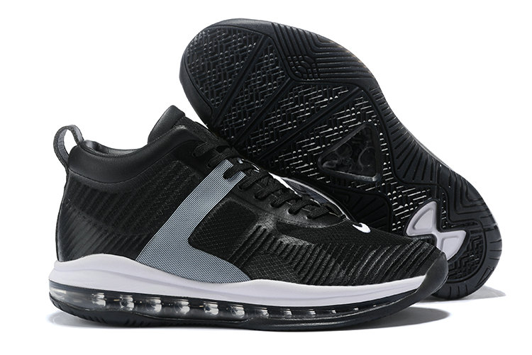 Cheap Nike Lebron X JE ICON QS Black Grey White On VaporMaxRunning