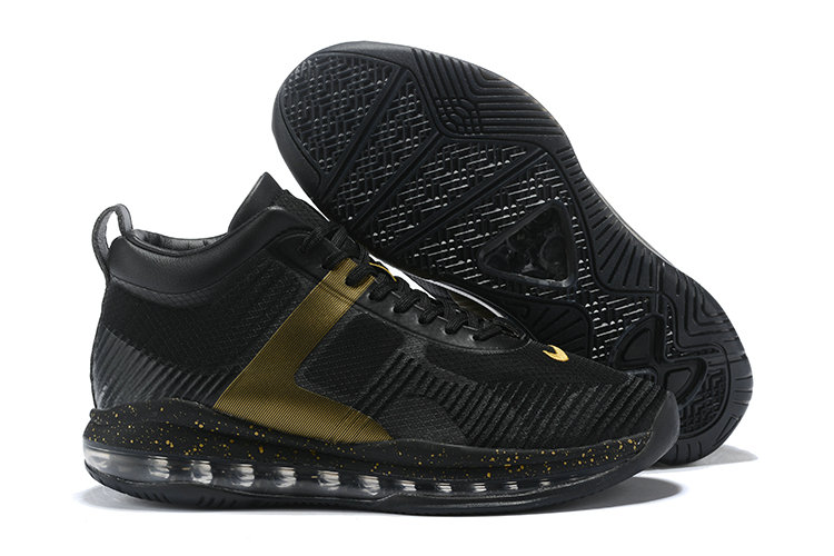 Cheap Nike Lebron X JE ICON QS Gold Black On VaporMaxRunning