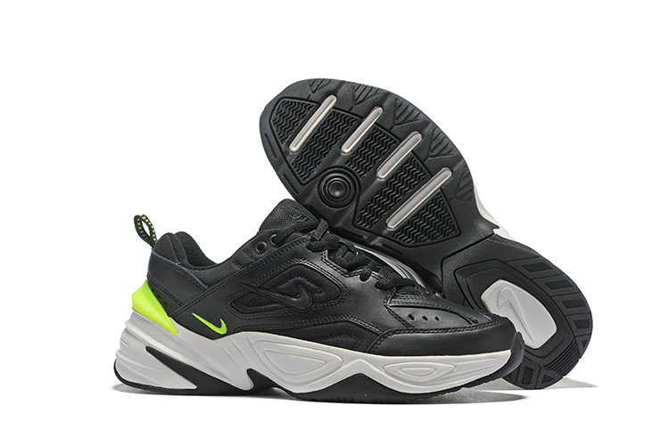 Cheap Nike M2K TEKNO Black Fluorescent Green White On VaporMaxRunning