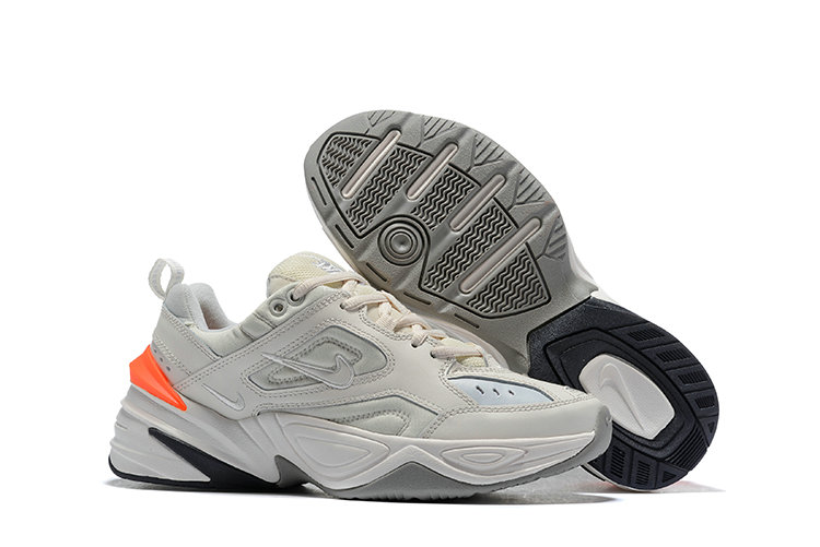 Cheap Nike M2K TEKNO White Orange Grey Black On VaporMaxRunning
