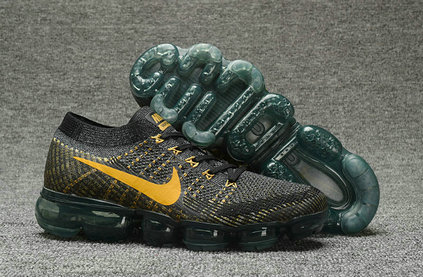 Cheap Nike Nike Air VaporMax Flyknit Gold Black Sportwear On VaporMaxRunning
