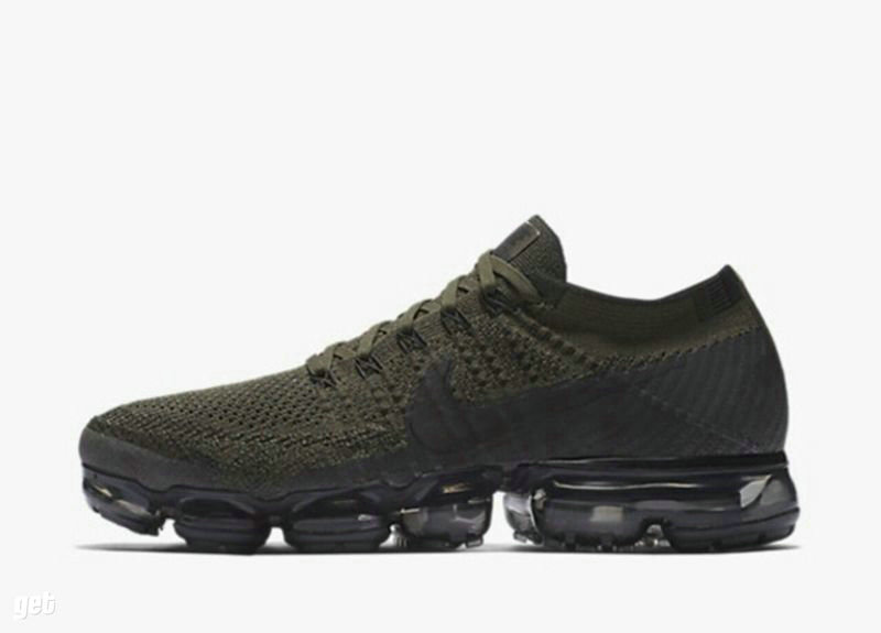 Cheap Nike Nike Air VaporMax Flyknit Green Black Sportwear On VaporMaxRunning