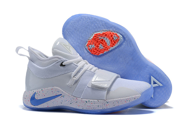 Cheap Nike PG 2.5 EP Basketball White Blue Pink On VaporMaxRunning