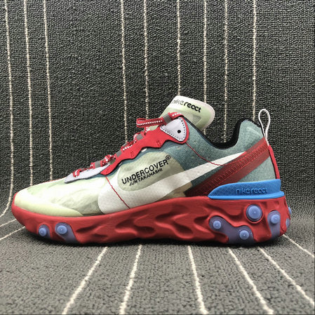 Cheap Nike React Element 87 Undercover Cream ColorRed White Big Red Beige Blanc Rouge On VaporMaxRunning