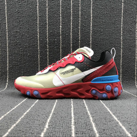 Cheap Nike React Element 87 Undercover Hyaline Big Red White Blanc Transparent Rouge On VaporMaxRunning