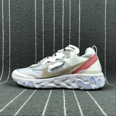 Cheap Nike React Element 87 Undercover Hyaline Big Red-White Blanc Transparent Rouge Blanc On VaporMaxRunning