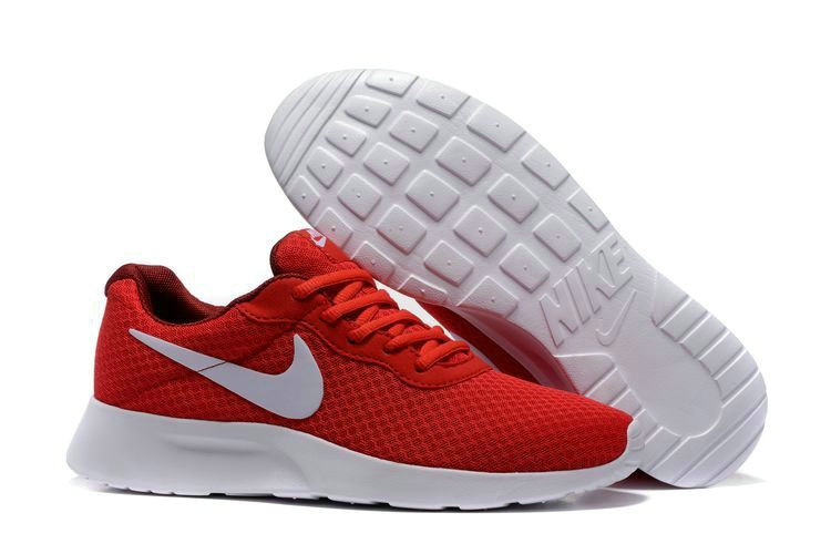 Cheap Nike RosheRun 3 Mens University Red White On VaporMaxRunning