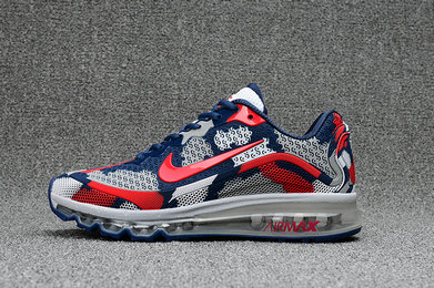 Cheap Nike WMNS Air Max 2017 CamouFlage Red Blue Grey On VaporMaxRunning