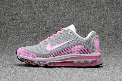 Cheap Nike WMNS Air Max 2017 Pink Grey White On VaporMaxRunning