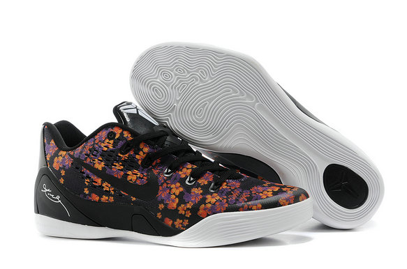 Cheap Nike Zoom Kobe 9 Flower Black White Purple Orange On VaporMaxRunning