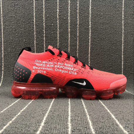 Cheap NikeLab Air Vapormax Flyknit OFF WHITE Red Black White