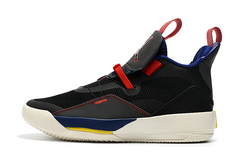 Cheap Nikes Air Jordan 33 Black Fire Red Blue Yellow White On VaporMaxRunning