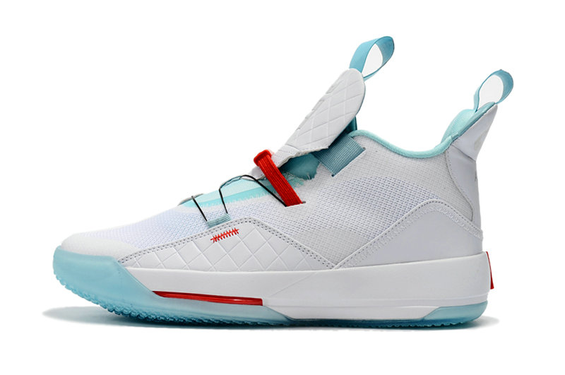Cheap Nikes Air Jordan 33 Light Green White Red On VaporMaxRunning