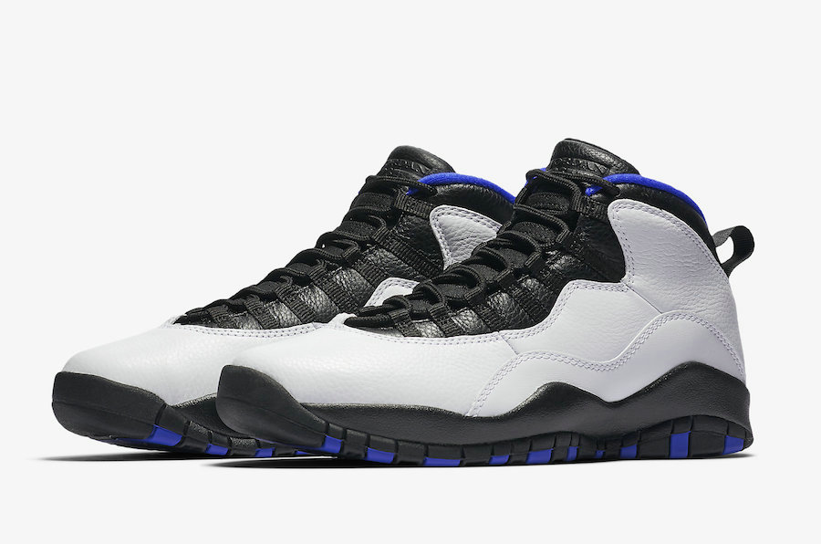 Cheap Nikes Air Jordans 10 Orlando White Black-Royal-Metallic Silver 310805-108 On VaporMaxRunning