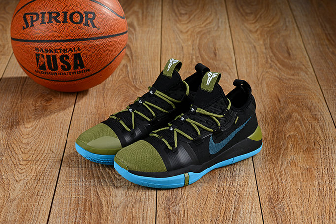 Cheap Nikes Kobe A.D. Army Green Black Blue On VaporMaxRunning