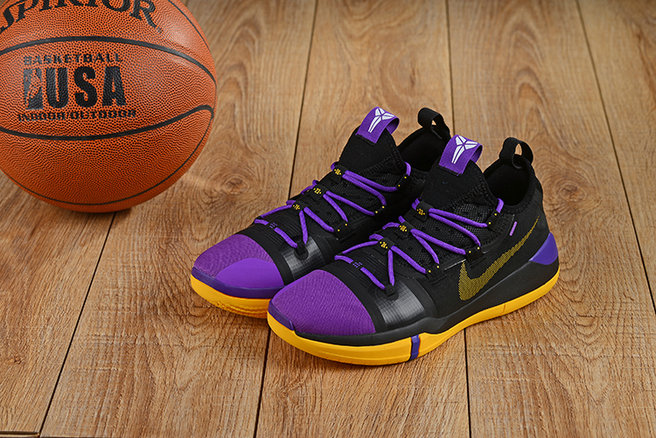 Cheap Nikes Kobe A.D. Purple Gold Black Yellow On VaporMaxRunning